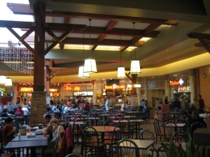 Food court at Twin Removed Pines Mall.