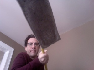 Ken Barney lowers the mop.