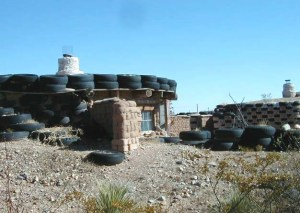 The only known photo of Meyer's gas station tire house before the fire.