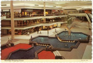 The fountain at Twin Removed Pines Mall in its heyday.