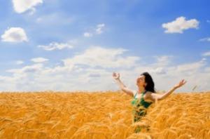 """""""Happy Juror in Wheat"""", an image from Lankville's jury duty website."""