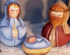 Detail of Hadbawnik's Nativity Scene which he doesn't want you to copy.