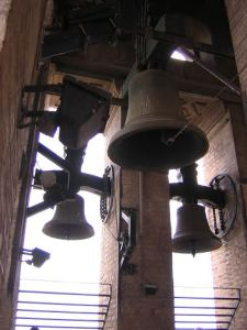The bells about to play a hauntingly familiar tune.