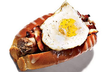 ​The Fried Egg Hot Dog- A trucker's dream!!!
