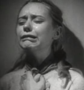 Dylan, the sad girl, crying (file photo).