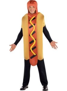 The goofy guy in the hot dog outfit