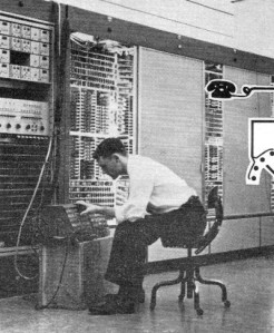 Special Services Control Center- the world's first all-electronic telephone central office, now serving customers in, is but a portion of overall network shown in block form below. The system was developed by Bell Telephone Laboratories.