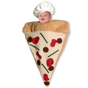 The floating baby pizza slice at the end