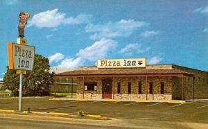 "The lovely ""Pizza Inn"" off Highway 62."
